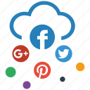 cloud, media, seo, social icon