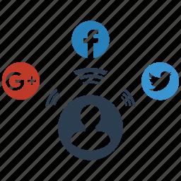 seo, signal, social icon