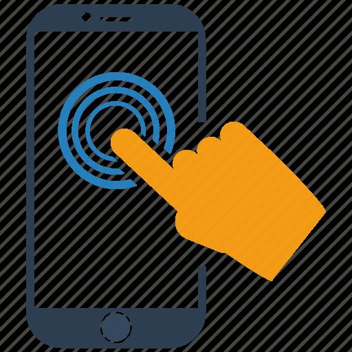 seo, technology, touchscreen icon