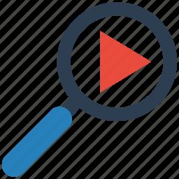 search, seo, video icon