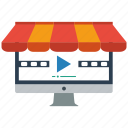 seo, store, video icon