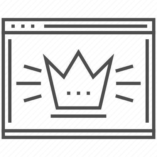Crown, marketing, page quality, seo, site, web, website icon - Download on Iconfinder