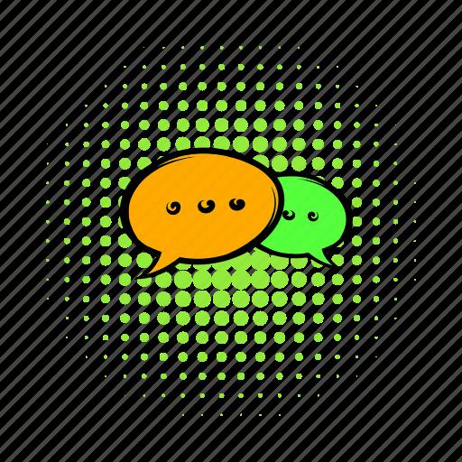 bubble, chat, comics, communication, discussion, message, speak icon