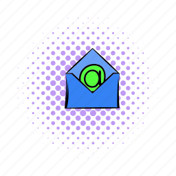 comics, communication, email, envelope, internet, mail, paper icon