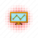 business, chart, comics, computer, diagram, growth, monitor icon