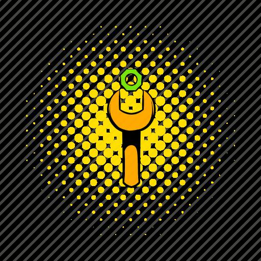 bolt, comics, metal, nut, small, steel, tool icon