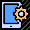 gear, mobile, seo, settings, smartphone icon
