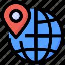 globe, international, local seo, location pin, point, seo, world icon