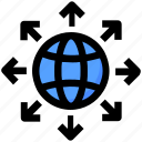 around, development, globe, seo, world icon