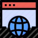 browser, development, internet, online, seo, website, world