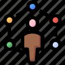 affiliate, developer, seo, sharing, social, user icon