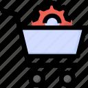 cart, gear, optimization, seo, seo services, shopping icon