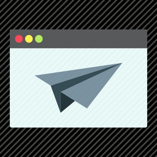 development, landing, page, plane, seo, site, web icon