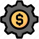 business, gear, management, marketing, money, process, seo icon
