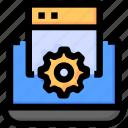 browser, development, laptop, seo, setting, website icon