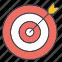 arrow, dart, target