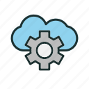 cloud, setting, storage, weather icon