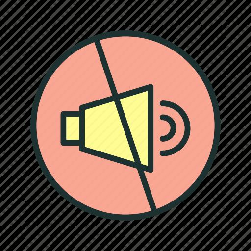 audio, mute, off, sound icon