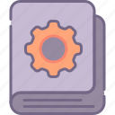bookmarking, services, settings icon