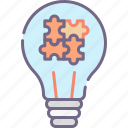 business, ideas, solutions icon