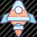 campaign, launch, rocket icon