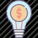 finance, idea, marketing icon