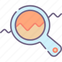 analysis, market, research icon