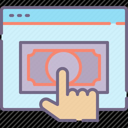 click, pay, per icon
