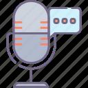 communication, mic, podcast, pr icon