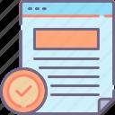 check, document, legibility, readability icon