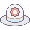 hat, seo, white icon
