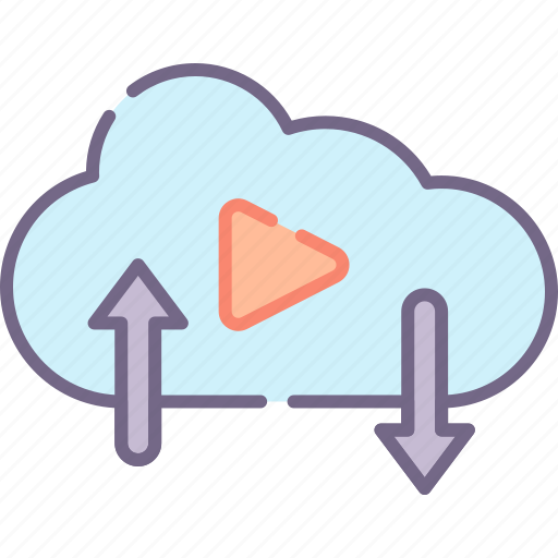 cloud, media, social icon