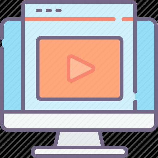 marketing, video, vlog icon