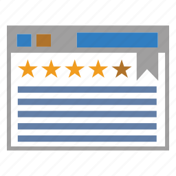 layout, seo, stars, web icon