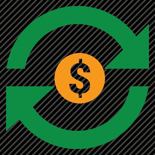 money, reset, seo, web icon
