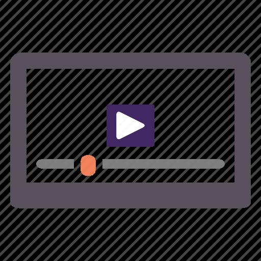 player, seo, video, web icon