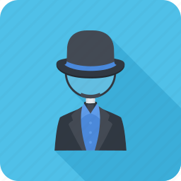 black hat, hat, magnifier, search, seo icon