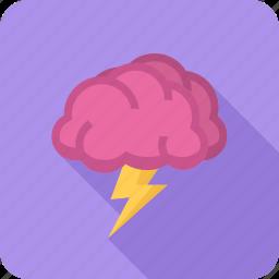 brain, brainstorm, concept, creative, idea, storm icon
