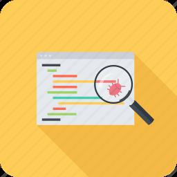 bug, code, fix, program, programming, seo, site icon