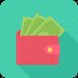 bank note, cash, money, payment, purse icon