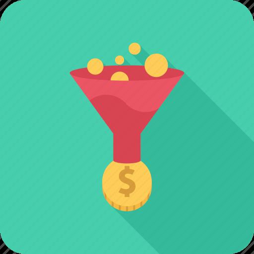 conversion, money, optimization, profit, seo icon