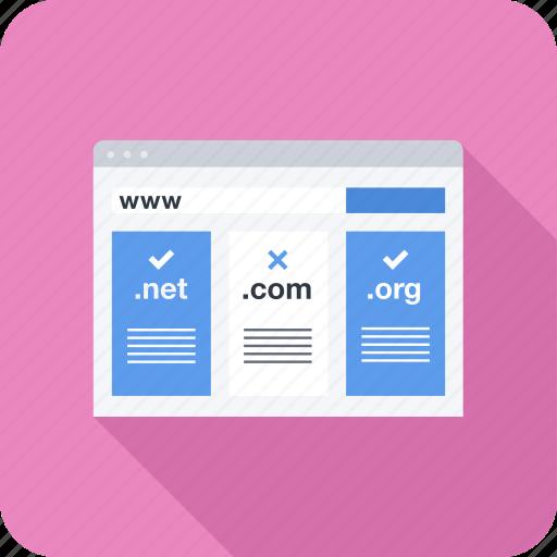 domain, name, registration, seo, site, web icon