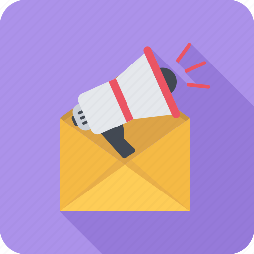 email, mail, marketing, megaphone, message icon