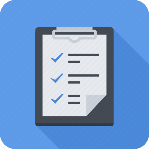 check, check list, features, paper, tablet icon