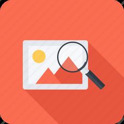 image, magnifier, photo, search, seo icon