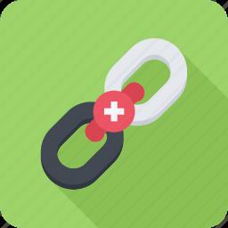 building, link, optimization, seo, site icon