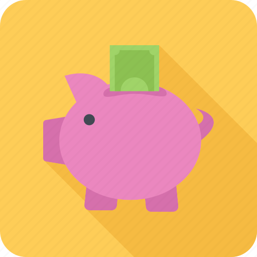 guardar, money, money box, pig, save, saving icon