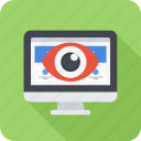 eye, monitor, monitoring, seo, site icon