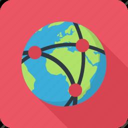 communication, internet, network, planet, provider icon