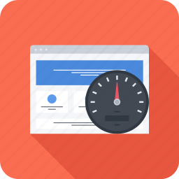 optimization, page, seo, site, speed, speedometer icon